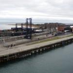 Kurze Wege: Der Bahnhof Gedser im Fährhafen